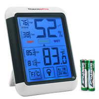 ThermoPro TP55 Digital Indoor Thermometer Hygrometer Humidity Meter Touchscreen