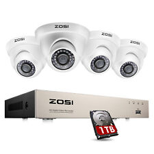 Zosi H.265 Home Security Camera System 1080p with Hard Drive 1T 8Ch 5Mp Lite Dvr