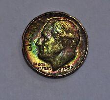 1957-D Toned Roosevelt ~ PCGS MS65 ~ DEEP Rainbow Toning!