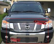 Fits 2008-2015 Nissan Titan Billet Grille Combo Insert