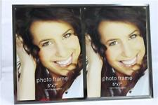 """Luxurious Special Moments Mirror Glass 5"""" x 7"""" Double Photo Picture Frame-12631"""