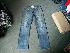 "Lee Cooper Straight Jeans Waist 34"" Leg 32"" Faded Dark Blue Mens Jeans"