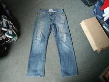 "Lee Cooper Straight Jeans Waist 34"" Leg 32"" Faded Dark Blue Mens Jeans"