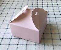 50x Pale Pink Paper Boxes Birthday Party Wedding Favour Bomboniere Gift boxes
