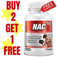 NAC N-Acetyl Cysteine 500mg Capsules | Glutathione | Antioxidant Buy 2 - 1 FREE