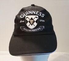 """Men's Black Guinness Hat """"Settle For Perfection""""  Adjustable Cotton Baseball Cap"""