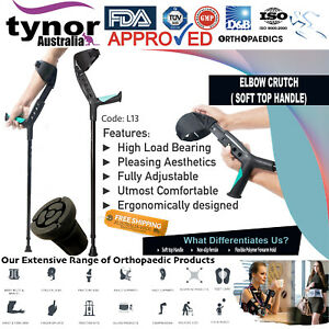 Tynor® Adjustable Underarm Forearm Elbow Crutches Walking Stick Ergonomic Design
