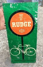 VINTAGE RARE SAN RALEIGH- RUDGE BICYCLE ADV. TIN SIGN BOARD