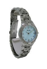 Bulova Diamonds 96R172 Women's Round Light Blue Analog Stainless Steel Watch