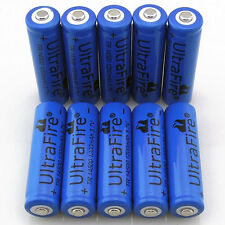 10pc UltraFire 14500 3.7V 1200mAH Lithium Li-ion Rechargeable Battery Batteries
