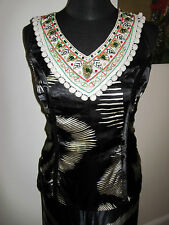 LULU AND RED BLACK blouse TOP 10-12 STEAMPUNK LOLITA NEW ethnic