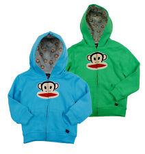 Paul Frank Kids Classic Julius Logo Zip Up Sweater Hoodie, Color Options