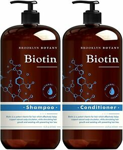 Brooklyn Botany Biotin Shampoo & Conditioner, Hair Growth, Thickening & Volume