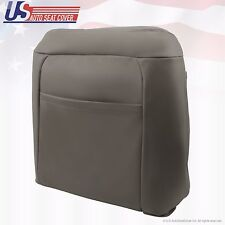 1995 -1999 Chevrolet C/K 1500 Passenger top Lean Back Leather Seat Cover Gray