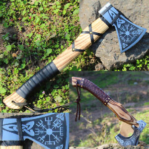 Hand Forged High Carbon Steel Viking Axe Custom Made Tactical Tomahawk Axes