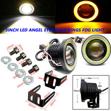 L&R 3'' 3200Lm LED Projector Fog Light Round Amber Angel Eye Halo 4X4 Truck 12V