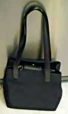 USED Vintage Coach Mercer Tote Nylon Twill Black Leather trim 7411