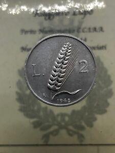 Repubblica Italiana 2 Lire Spiga 1948 FDC periziata