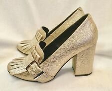 Kenneth Cole Reaction Cassia Women's Gold Shoes High Heels Fringe Buckle US 6 M