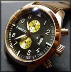 CORGEUT (Parnis) Aviator chronograph qtz:50mm:316L stainless:Big pilot:PVD gold
