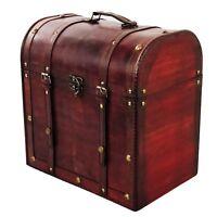 Allgala Antique Wine Wooden Box for 6-Bottle