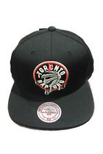 Toronto Raptors Drip Primary Logo Basketball Mitchell Ness Black Snapback Hat