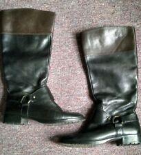 Ralph Lauren Riding Boots Black & Brown Sz 8.5