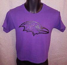 Baltimore Ravens Purple Logo T-Shirt EUC - Youth Medium 8/10