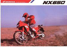 1988 HONDA NX650 4 Page Motorcycle Brochure NOS
