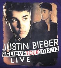 Justin Bieber Believe Tour 2012/2013 Medium T-Shirt Purple Carly Rae Jepsen
