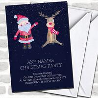 Santa & Reindeer Christmas Party Invitations
