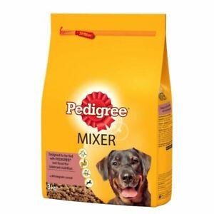 Dog Food Pedigree Chum Mixer 3Kg Original Dry Kibble Mix With Wet Food Crunchy