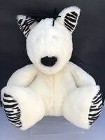 Marks & Spencer White Zebra Teddy Bear Soft Toy Plush Black White Stripes M&S