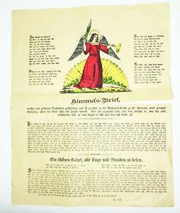 Alter Himmelsbrief um 1840/1870 Schutzbrief Deko ! (D8