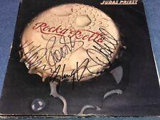 Judas Priest Band Signed Rock & Rolla LP Record Album Cover Rob Halford ++