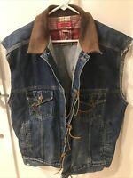 Sleeveless Marlboro Country Store Jacket W Harley Patches On Back—Size Large