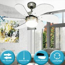 Decken Ventilator 60 Watt Beleuchtung 4 Stufen Sommer Winter Wohn Big Light