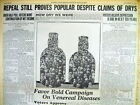 1936 headline display newspaper REPEAL OF PROHIBITION HAILED by MOST AMERICANS