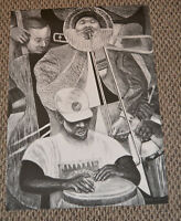Rare SPIRAL LITHOGRAPH 2001 by Reginald Gammon African American Artist 21.5x30