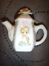 "Precious Moments ""Girl with Slingshot"" Teapot Ornament 1994 Enesco"