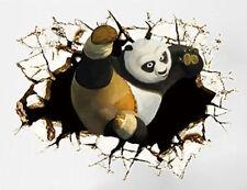 Large 3D Kung Fu Panda Wall Art Removable Stickers Decal Nursery Kids Bighero
