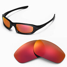 New Walleva Polarized Fire Red Lenses For Oakley Fives 4.0