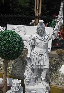 Heiliger Florian Schutzpatron Feuerwehr Steinfigur massiv 110 cm Garten Figur