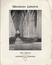Winchester Cathedral Specification of Restoration of Organ 1938 - Harrison & Har