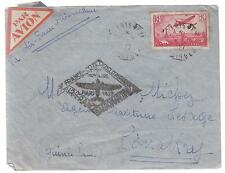 1937 Air France First Flight Cover FFC Paris France to Conakry Guinee AOF