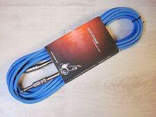 roxtone Câble de guitare Câble d'instrument Eco 6M Bleu