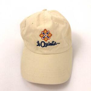 La Quinta hotels hat cap light yellow cotton