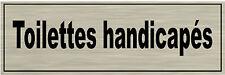 1 plaque aluminium brossé Signalétique de porte-Toilettes-handicapés