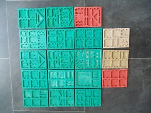18x Linka Rubber Moulds for Railway Buildings