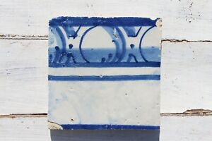 18th Century Antique Portuguese Rocaille Forms Tile